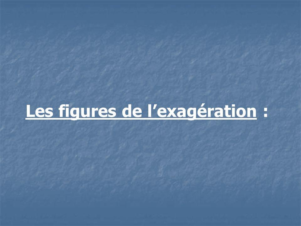 Les figures de lexagération :