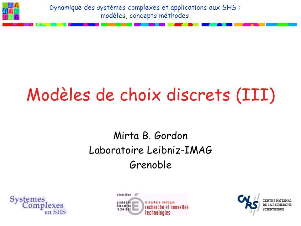 Modèles de choix discrets (III) Mirta B.
