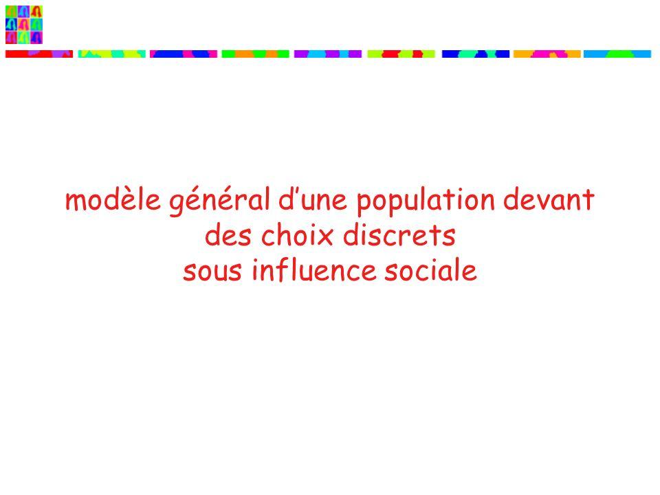 modèle général dune population devant des choix discrets sous influence sociale