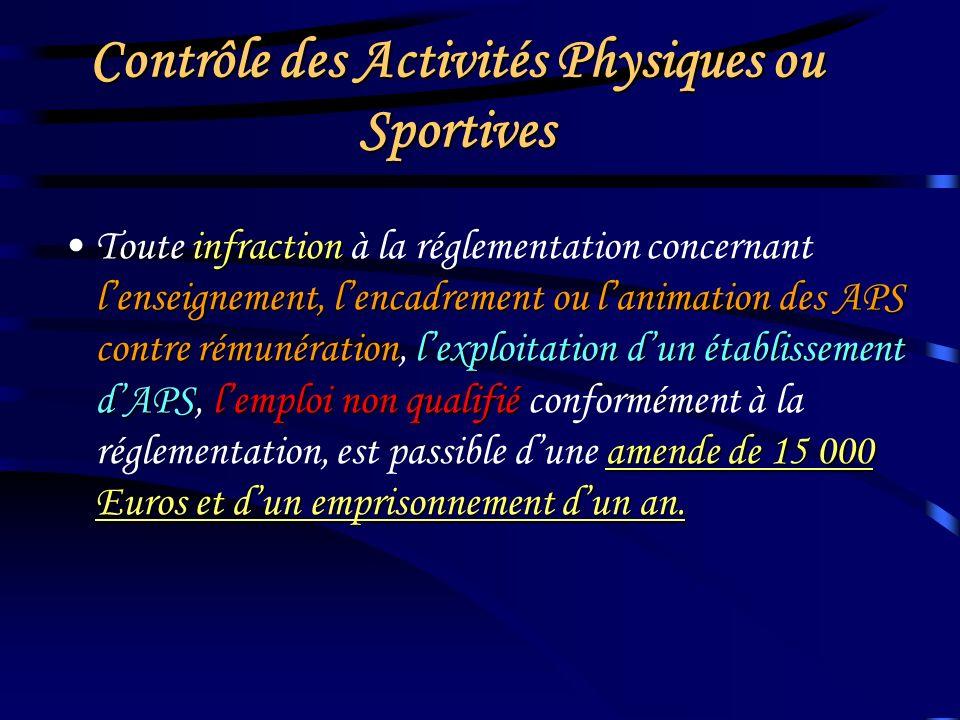 AFFICHER EN UN LIEU VISIBLE DE TOUS Les garanties dhygiène et de sécurité ainsi que les normes techniques des Activités Physiques ou Sportives pratiqu