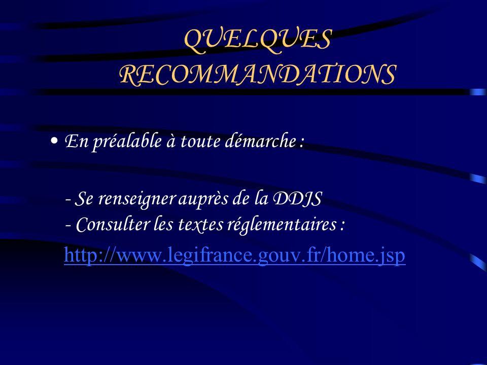 DES RECOMMANDATIONS AUX OBLIGATIONS