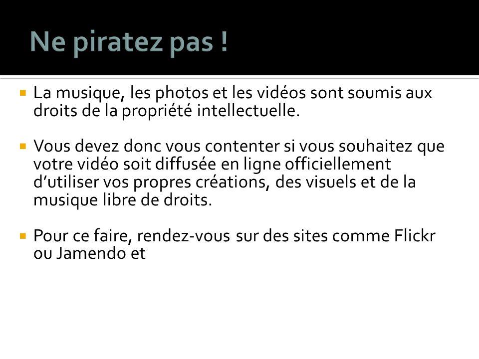 La musique, les photos et les vidéos sont soumis aux droits de la propriété intellectuelle.
