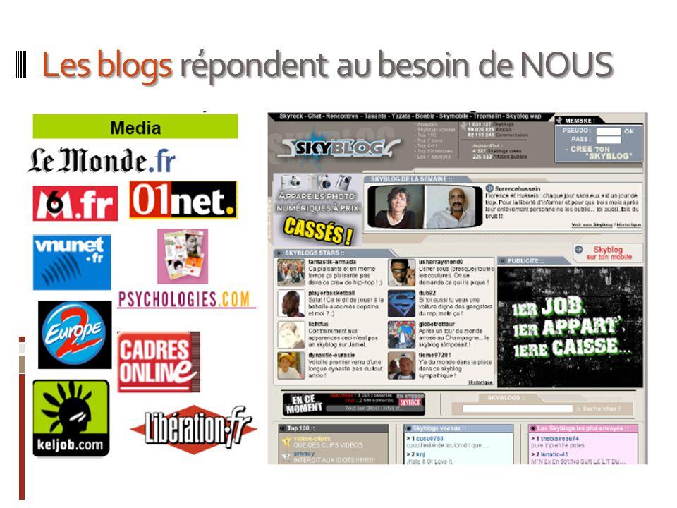 Les blogs répondent au besoin de NOUS