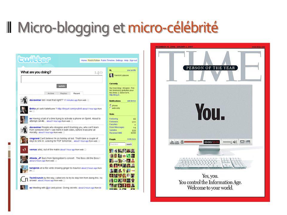 Micro-blogging et micro-célébrité