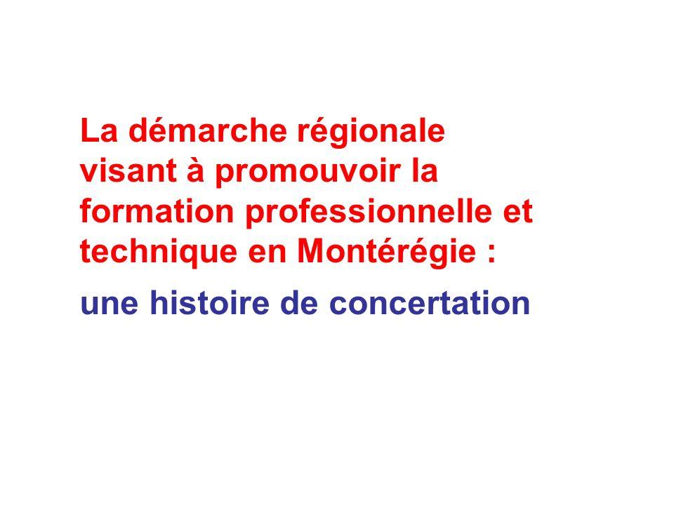 La démarche régionale visant à promouvoir la formation professionnelle et technique en Montérégie : une histoire de concertation