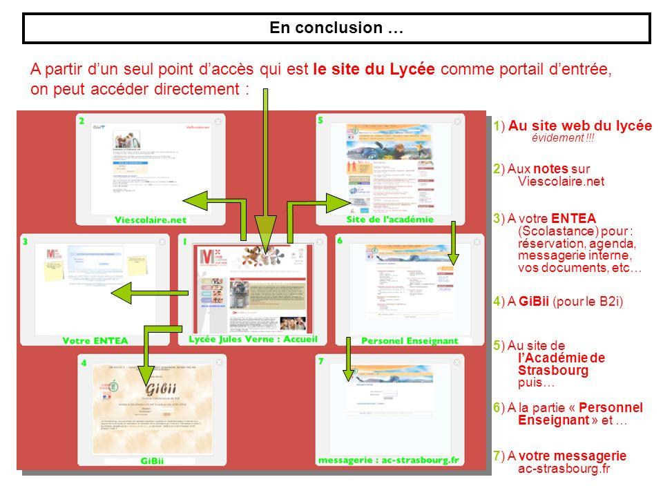 1) Au site web du lycée évidement !!.