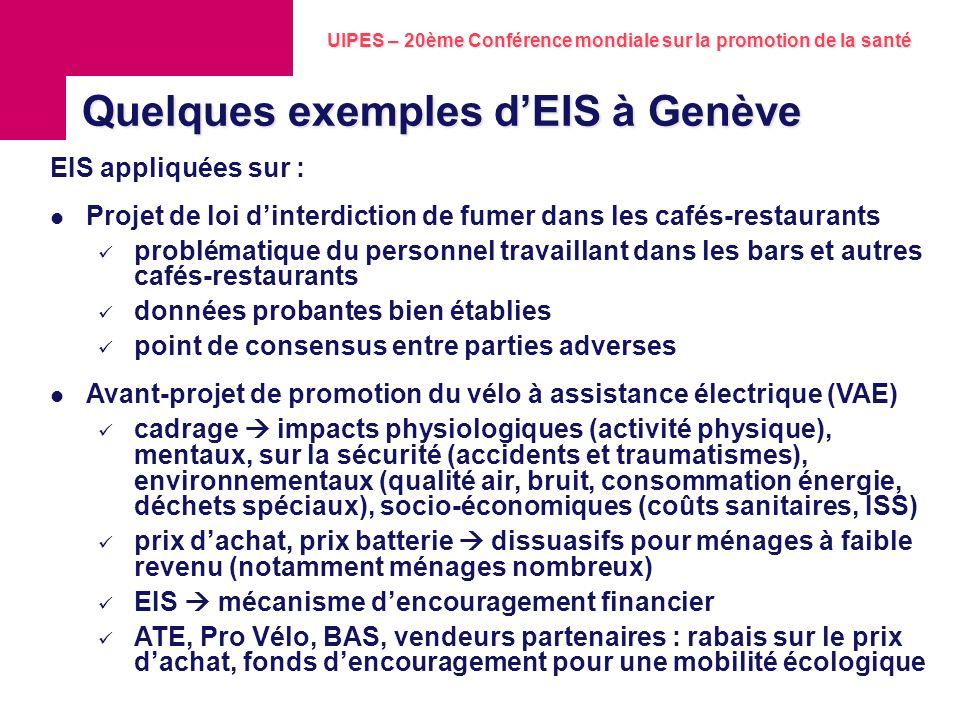 UIPES – 20ème Conférence mondiale sur la promotion de la santé Juillet 2010 7 Institut des sciences de lenvironnement Groupe de recherche environnemen