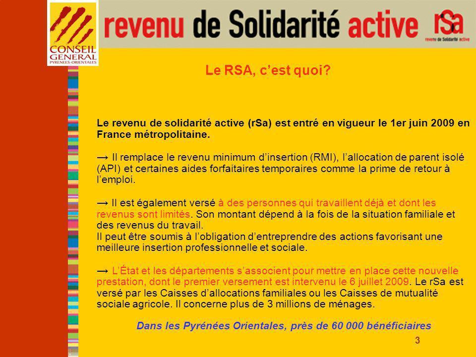 4 Le RSA, à quoi ça sert.À compléter les revenus du travail pour ceux qui en ont besoin.