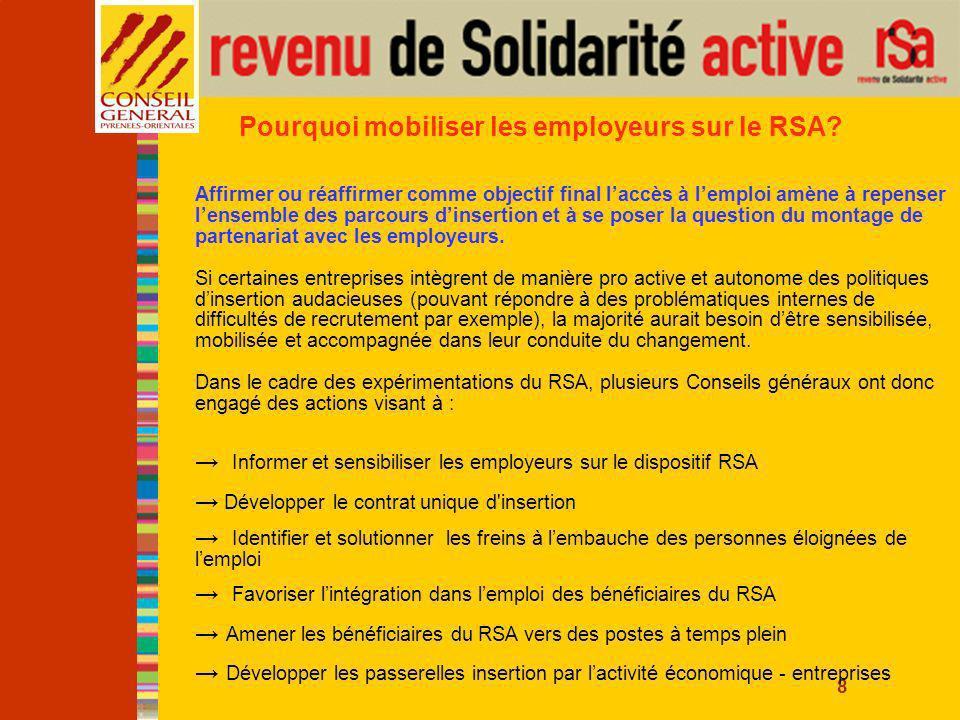 8 Pourquoi mobiliser les employeurs sur le RSA.
