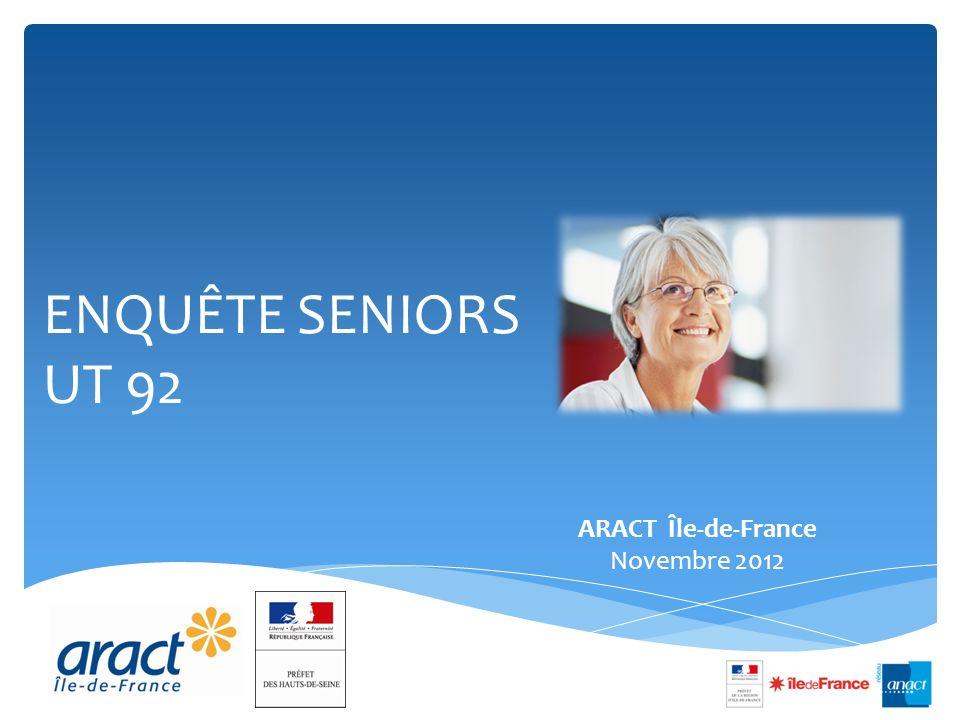 ENQUÊTE SENIORS UT 92 ARACT Île-de-France Novembre 2012