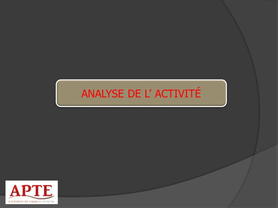 ANALYSE DE L ACTIVITÉ