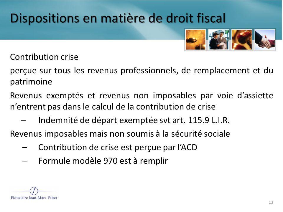 Le traitement fiscal et de sécurité sociale des condamnations prononcées par les juridictions du travail Dispositions en matière de sécurité sociale 14