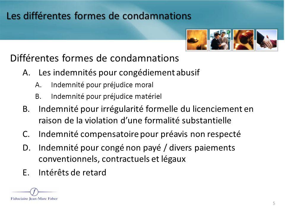 Le traitement fiscal et de sécurité sociale des condamnations prononcées par les juridictions du travail Dispositions en matière de droit fiscal 6