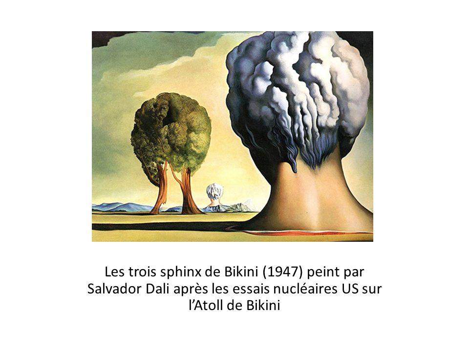Les trois sphinx de Bikini (1947) peint par Salvador Dali après les essais nucléaires US sur lAtoll de Bikini