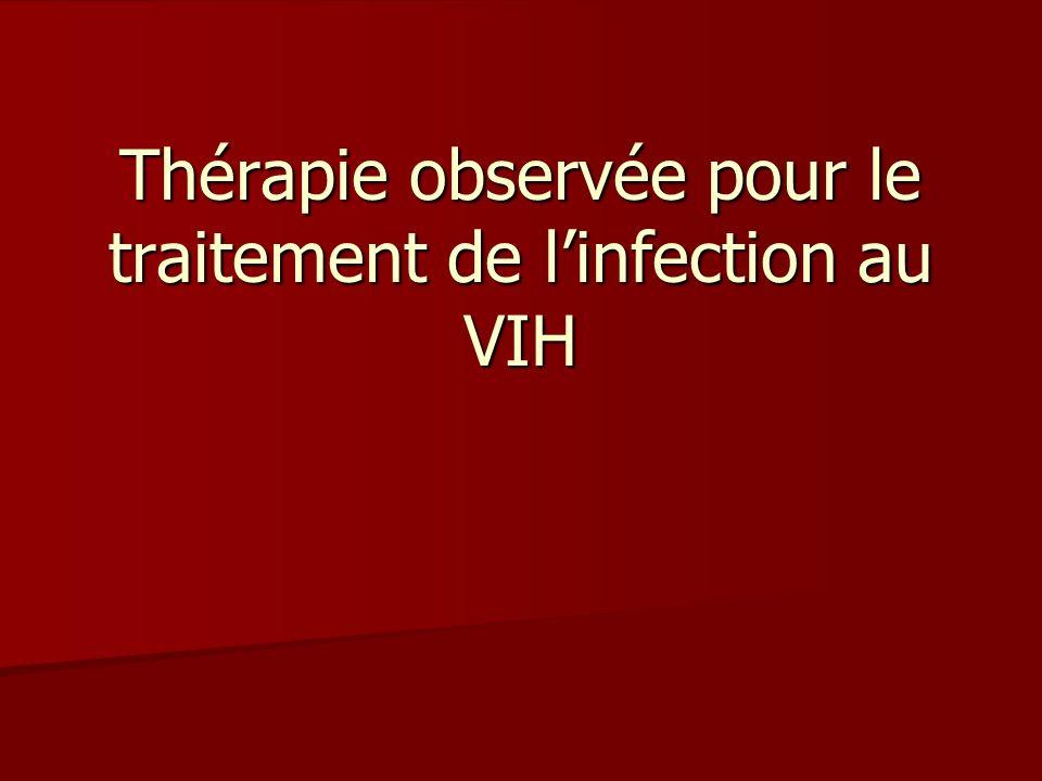 Thérapie observée pour le traitement de linfection au VIH