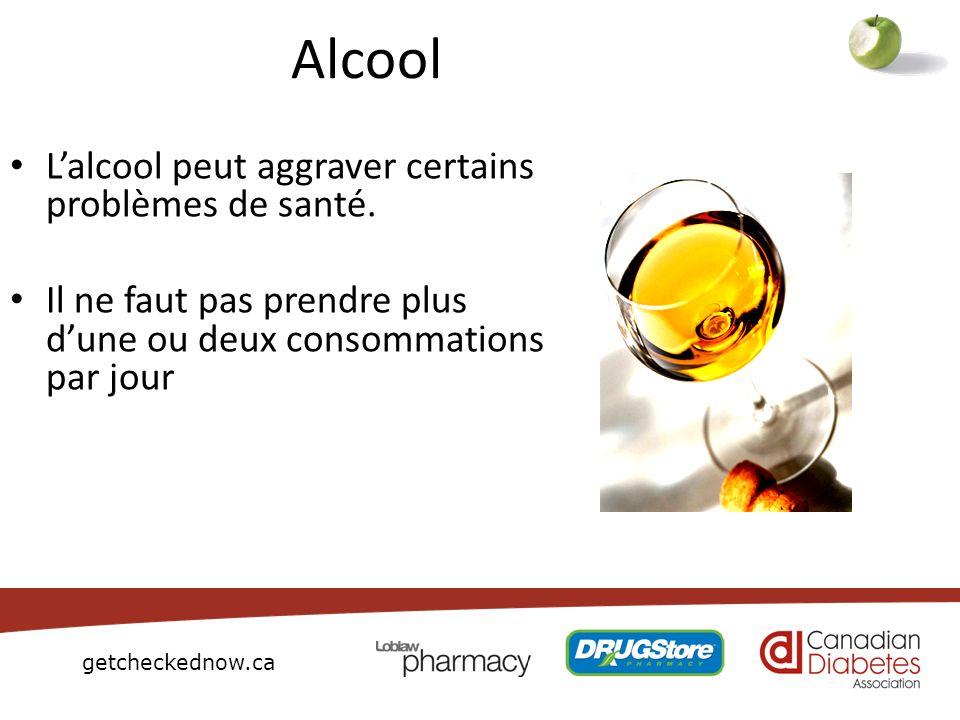 getcheckednow.ca Alcool Lalcool peut aggraver certains problèmes de santé. Il ne faut pas prendre plus dune ou deux consommations par jour