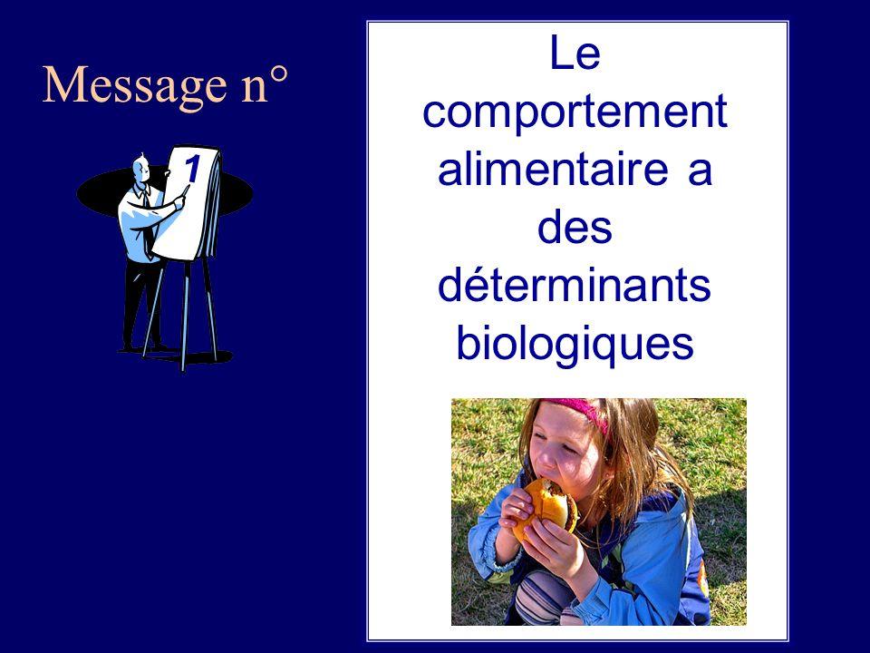 Message n° 1 Le comportement alimentaire a des déterminants biologiques