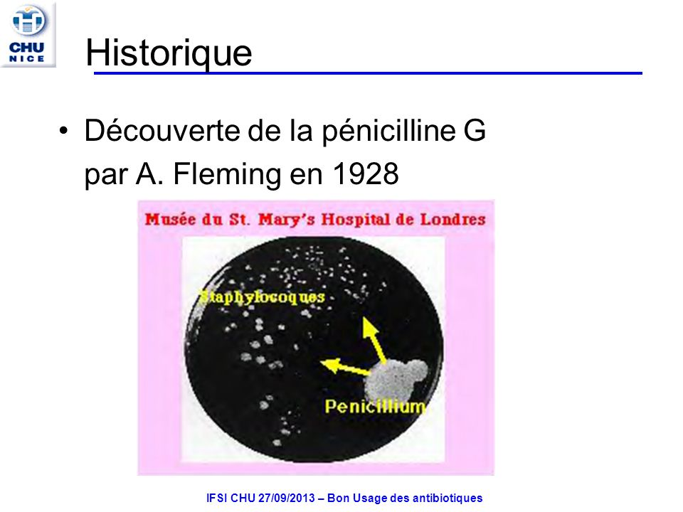 IFSI CHU 27/09/2013 – Bon Usage des antibiotiques Cyclines : molécules disponibles DoxycyclineVIBRAMYCINE Voie orale cp 100 mg