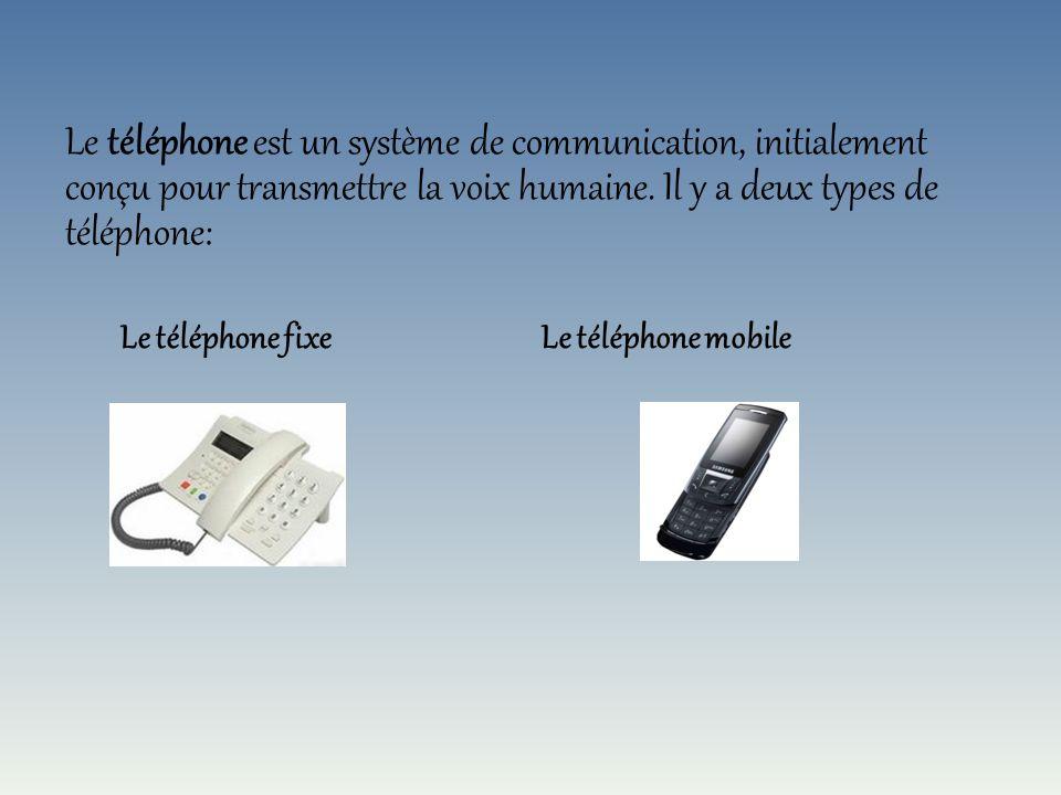 Définition du téléphone Le téléphone fixe Le téléphone de Milde Le téléphone de Marty Les années 1920 Les années 1940 Le téléphone crapaud (1960) Le t