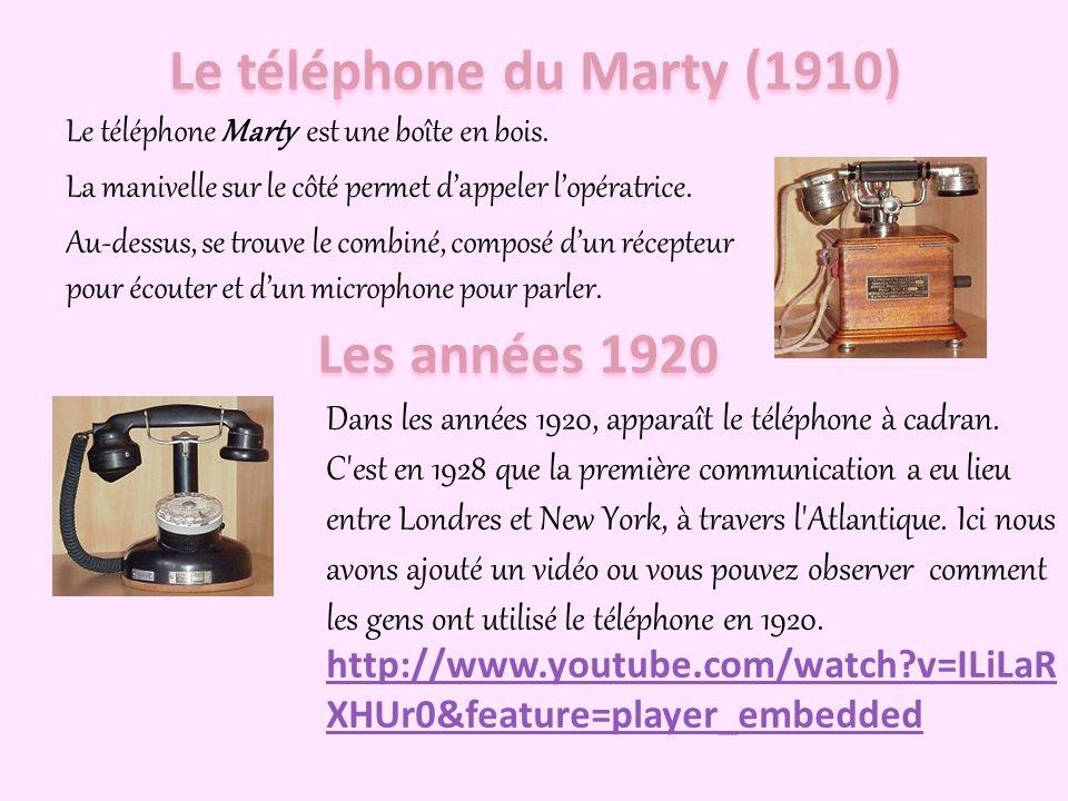 Le téléphone suivant qui a existé était le téléphone de Milde en 1892. Pour appeler, vous deviez appuyer le bouton d'appel. Après cela, vous deviez pr
