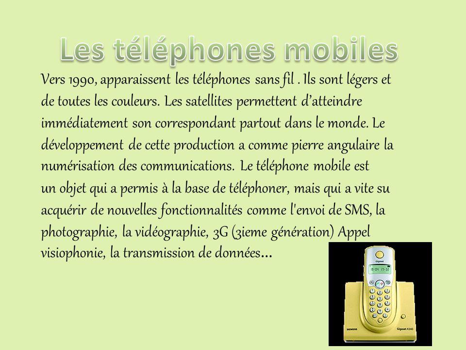 Dans les années 1960, apparaissent les téléphones crapauds. Le téléphone crapaud n'est plus en bakélite. Il est en plastique. Depuis 1970-1980 il y av