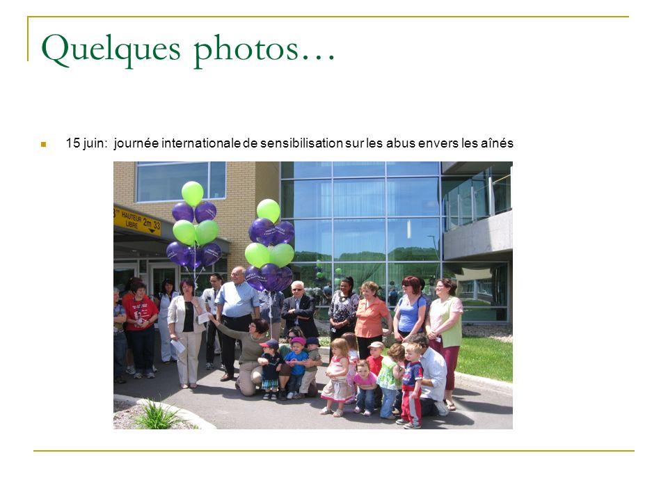 Quelques photos… 15 juin: journée internationale de sensibilisation sur les abus envers les aînés
