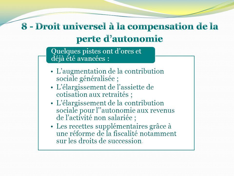 Laugmentation de la contribution sociale généralisée ; Lélargissement de lassiette de cotisation aux retraités ; Lélargissement de la contribution soc