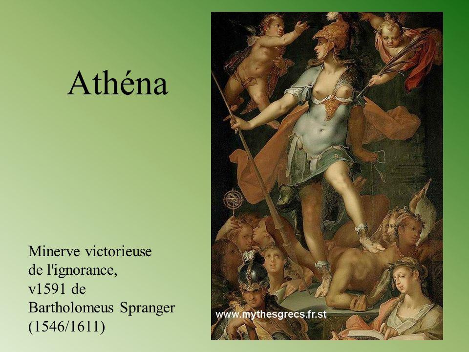 Minerve victorieuse de l'ignorance, v1591 de Bartholomeus Spranger (1546/1611) Athéna