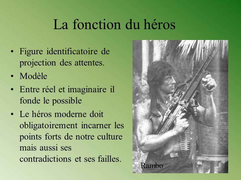 La fonction du héros Figure identificatoire de projection des attentes. Modèle Entre réel et imaginaire il fonde le possible Le héros moderne doit obl