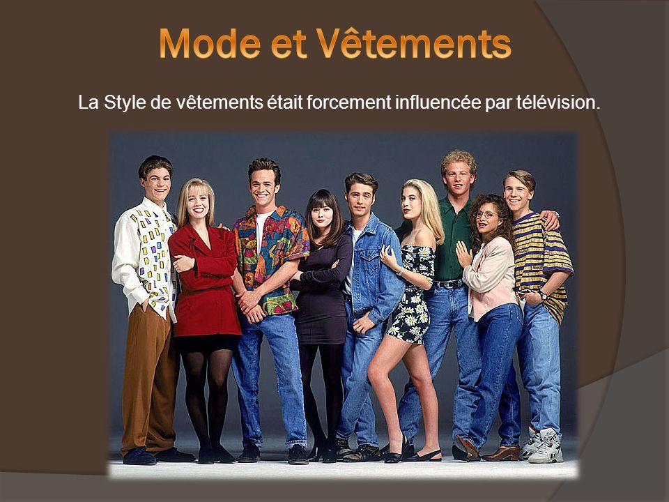La Style de vêtements était forcement influencée par télévision.