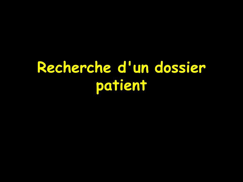 Recherche d'un dossier patient