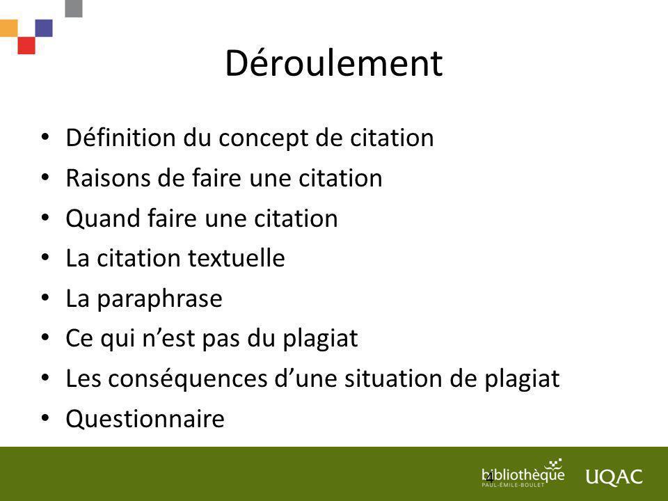 Documentation sur le plagiat et le droit dauteur Comment éviter le plagiat - Vidéo tiré du site Web de lUQAM.