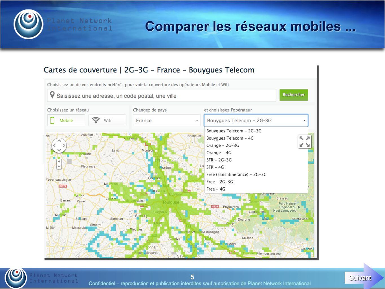 5 Comparer les réseaux mobiles... Suivant