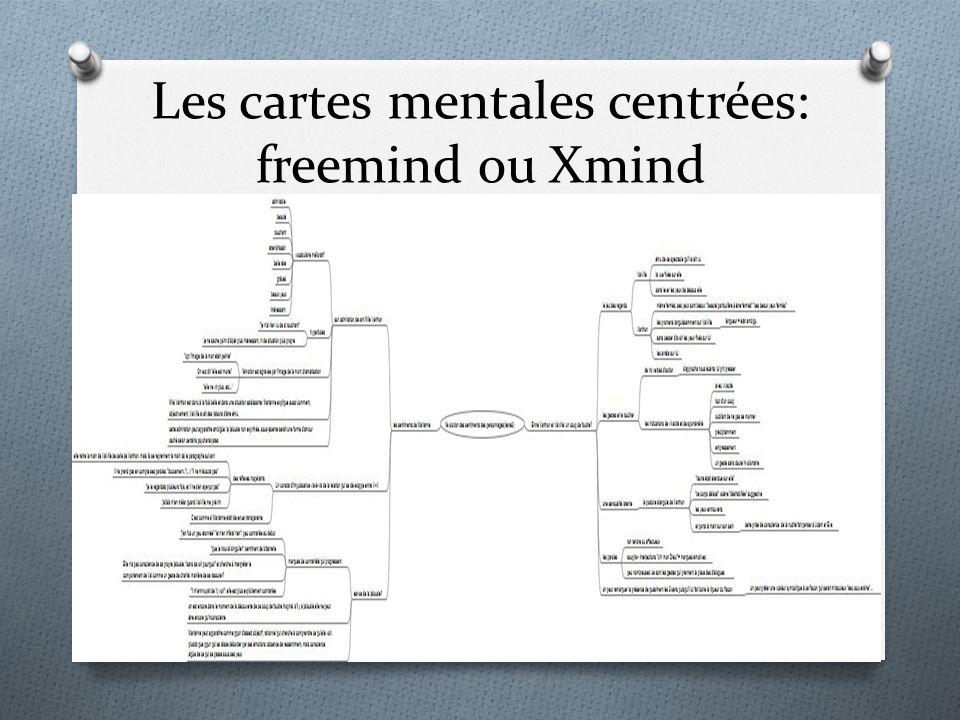 Les cartes mentales centrées: freemind ou Xmind
