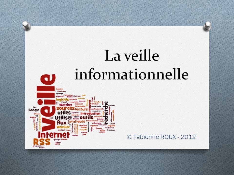 Proposition de corrigé MéthodeOutilContenuPériodicité PULL Recherche et sélection de sites sur Internet (sourcing) http://www.journaldunet.com/solutions/securite/ http://www.01net.com/ http://www.commentcamarche.net/secu/secuintro.php3 http://www.securite-informatique.gouv.fr/ http://www.secuser.com/ Mensuelle PUSH Alertes Google Termes : « sécurité informatique » Hebdomadaire Fils RSS http://www.securite- informatique.gouv.fr/gp_page_backend.rss http://www.01net.com/rss/RSS_ACTUS_securite.xml http://www.lemonde.fr/rss/tag/securite-informatique.xml Quotidienne Newsletters Journal du Net – Sécurité Secuser.com Mensuelle Hebdomadaire © Fabienne ROUX - 2012