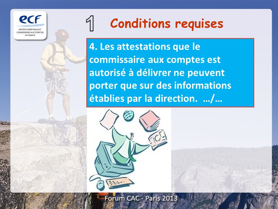 Conditions requises 4.