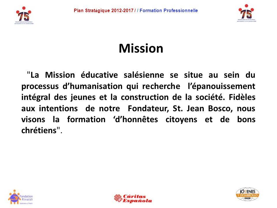 Mission La Mission éducative salésienne se situe au sein du processus dhumanisation qui recherche lépanouissement intégral des jeunes et la construction de la société.