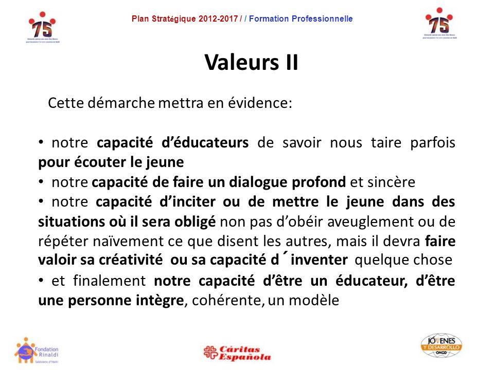 Plan Strat é gique 2012-2017 / / Formation Professionnelle Les 11 Objectifs Opérationnels 7.