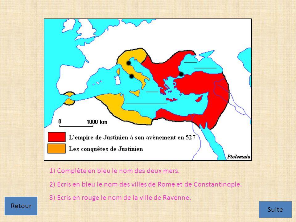 http://webpublic.ac- dijon.fr/pedago/histgeo/Enseigner/Sequence s/College/Ravenne/ravennemosaiq.htm 4) Où se situent les mosaïques de lempereur (appelé aussi basileus) Justinien et de son épouse Théodora .