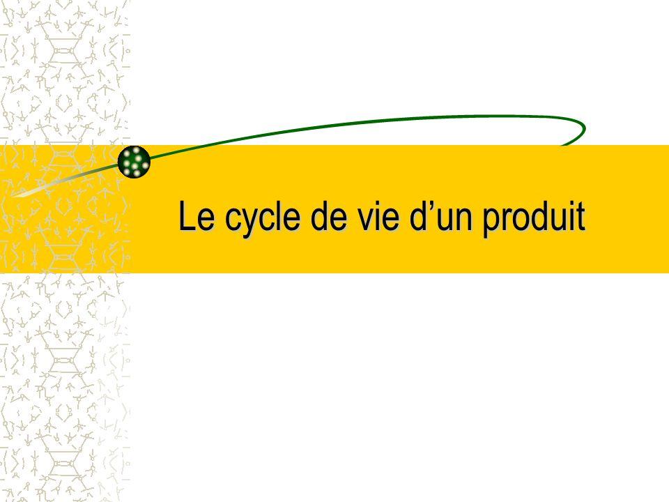 Le cycle de vie dun produit