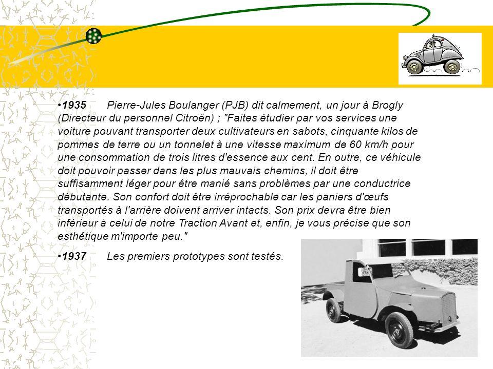 4 1935 Pierre-Jules Boulanger (PJB) dit calmement, un jour à Brogly (Directeur du personnel Citroën) ;