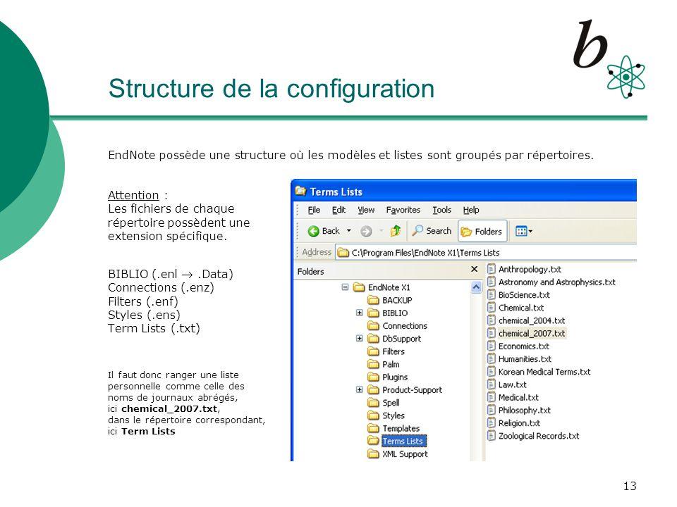 14 Tips & Tricks Connexions et Filtres dimport : essayez de trouver linterface et/ou le filtre spécifique pour votre base de données Exemples: chercher/sauver des documents de Medline (OVID) ou PubMed (NLM), sélectionner le filtre le plus spécifique pour votre catalogue de bibliothèque RERO RERO_XI RERO_Geneve_XI http://www.unige.ch/biblio/chercher/endnote.htmlhttp://www.unige.ch/biblio/chercher/endnote.html Création dun Output Style personnel Menu : Edit – Output Style – Edit Numbered prendre, éditer puis adapter des pages existantes, donc déjà correctement formatés (ici, Templates pour Reference Types)