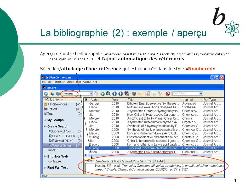 5 La référence (1) : visualisation / édition Avec un double-click sur la référence sélectionnée (Menu: References – Edit References), on passe en mode édition où le contenu des champs peut être manuellement modifié/complété Attention: le format de chaque champ doit être respecté (p.ex.
