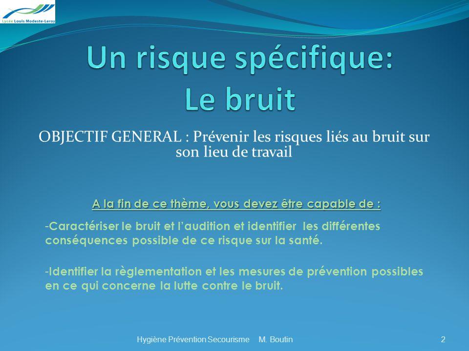 Objectif 2 2. Mesures de prévention Différents exemples: la protection collective Ecrans