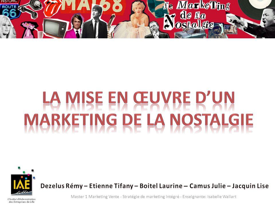 Master 1 Marketing Vente - Stratégie de marketing intégré - Enseignante: Isabelle Wallart