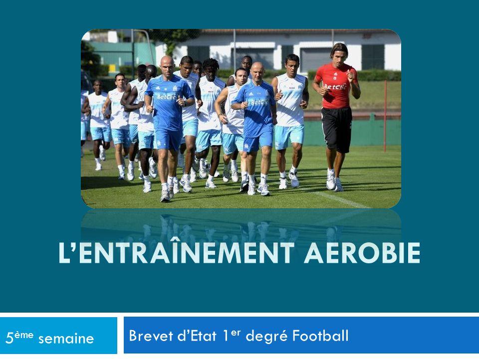 Brevet dEtat 1 er degré Football 5 ème semaine LENTRAÎNEMENT AEROBIE
