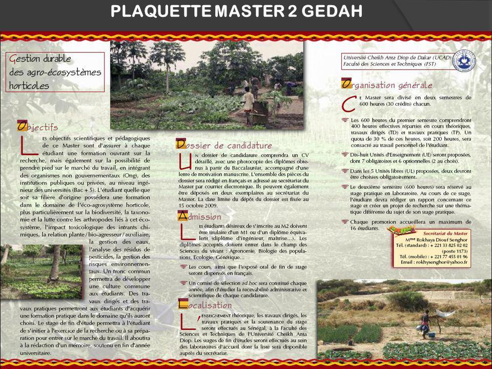 PLAQUETTE MASTER 2 GEDAH 24
