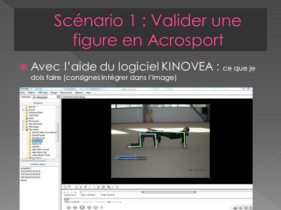 Avec laide du logiciel KINOVEA : ce que je dois faire (consignes intégrer dans limage) 3