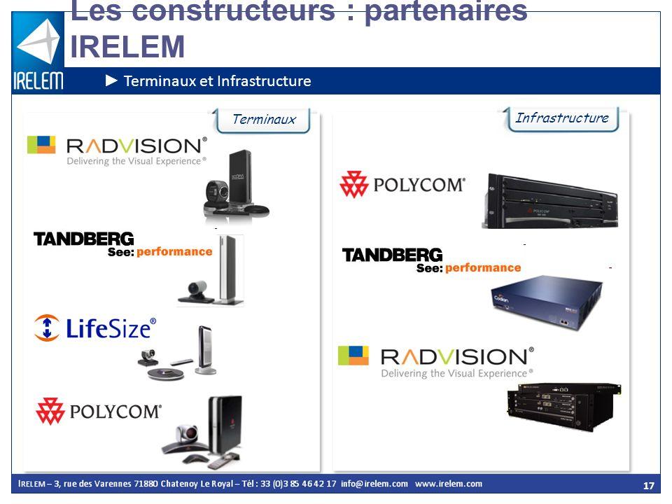 17 Les constructeurs : partenaires IRELEM Terminaux et Infrastructure Terminaux Infrastructure