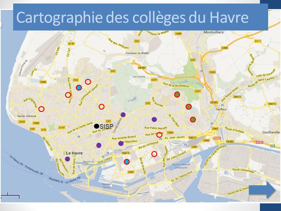Cartographie des collèges du Havre SISP